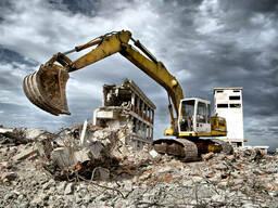 Демонтаж домов дач сараев снос зданий Глеваха киевская обл