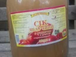 Сок яблочный с мякотью 3л.