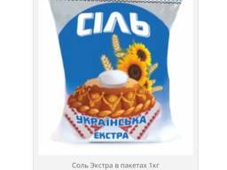 """Соль """"Экстра"""" в пачке по 1кг"""