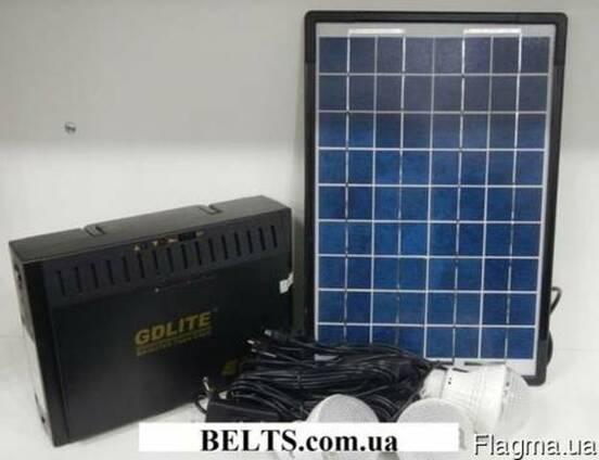 Украина. Солнечная система GD 8012 с лампами и панелью (Фонар