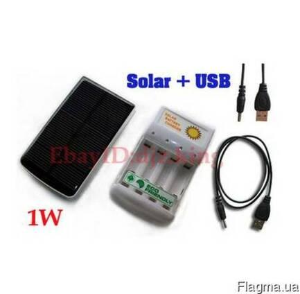 Солнечное зарядное устройство для AA/AAA аккумуляторов