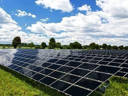 Солнечная электростанция, батареи, панели. Зеленый тариф
