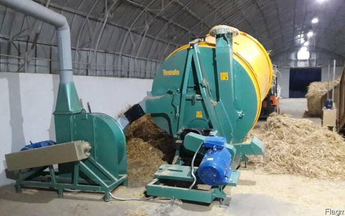 Соломорезка стационарная Tamahawk, 45кВт, 2500 кг. час.