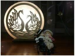Соляная лампа Лебеди
