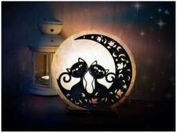 Соляная лампа Свидание на луне