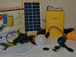 Сонячна система з зарядкою для телефону і лампами Solar Home