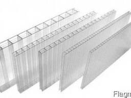 Сотовый прозрачный поликарбонат 2. 1*6. 0м, толщиной 6мм