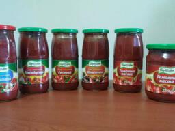 Соусы томатные: Украинский, Краснодарский, Шашлычный, Острый