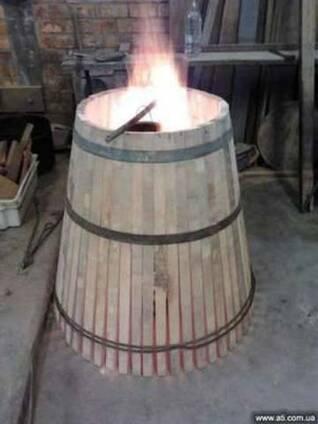 Современная бондарня. Производство дубовых бочек.