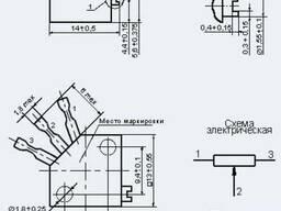 Резистор подстроечный СП3-39НА, 1 Вт, 47 кОм, 35 оборотов,