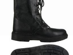 Спецобувь, ботинки с высокими берцами юфть-кирза