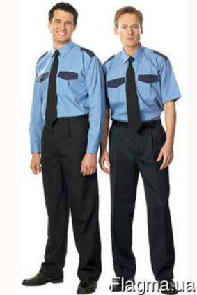 Костюм для охранных структур, рубашка, брюки, мужской