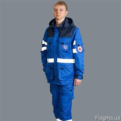 Спецодежда для скорой помощи:куртки, костюмы, жилеты. Пошив