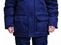 Спецодежда, куртка утепленная мужская, темно-синего цвета