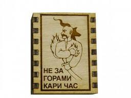 "Спички сувенирные-магнит на холодильник ""Не за горами кари час"""