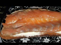Кусочки лосося с/с 500грамм вакуумной упаковке, без шкуры и кости