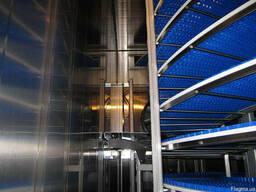 Спиральный конвейер заморозка полуфабрикатов под ключ