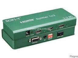 Сплиттер HDMI 1x2, версия 2. 0, 4K и 3D
