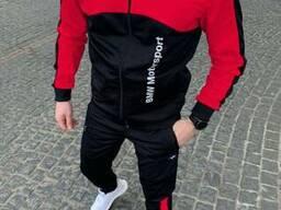 Спортивний костюм Puma BMW 2021 мужской черний с красним