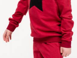 Спортивный костюм для мальчиков - В-19616W_бордовый