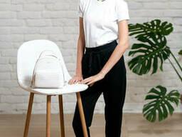 Спортивные брюки для девочки на манжете в черном цвете