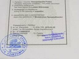 Справка о несудимости в Польше c апостылем