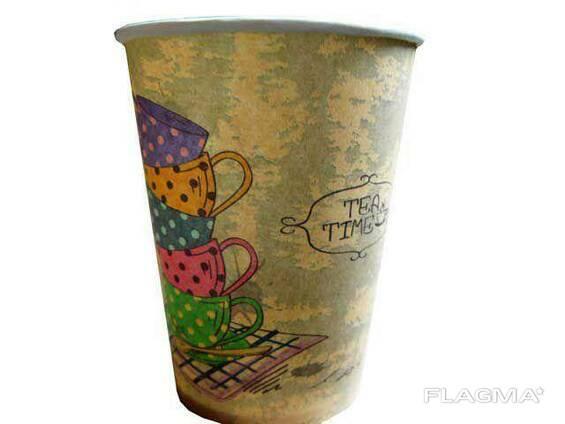 """Бумажный стакан 250 мл """"Tea Time"""" Маэстро (50 шт)"""