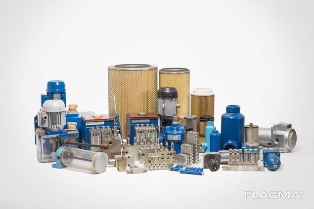 Станции смазочные, насосы модульной конструкции, фильтры напорные, щелевые, сетчатые.
