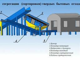 Станция сегрегации (сортировки) твердых бытовых отходов