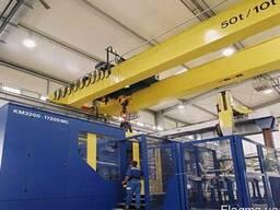 Стандартный мостовой кран двухбалочный 50т/10 т × 28 м