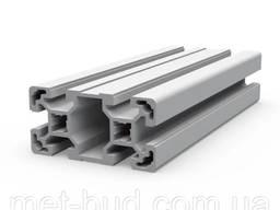 Станочный алюминиевый профиль 80 х 40 мм N1756, (без покрытия / анодированный)