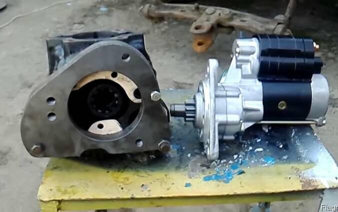Стартер на двигатель СМД (комбайны, трактора и пр. техника)