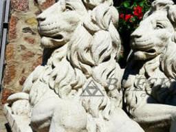 Статуя скульптура білого лева з полімерного Бетону . Лев...
