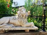 Статуя скульптура Льва из полимерного бетона - фото 1