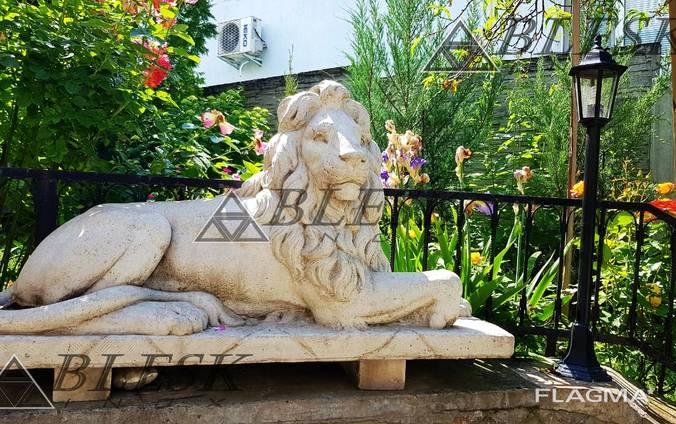 Статуя скульптура Льва из полимерного бетона