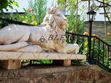 Статуя скульптура Льва из полимерного бетона - фото 4
