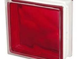 Стеклоблок цветной 1908/W Red,Brilly Чехия
