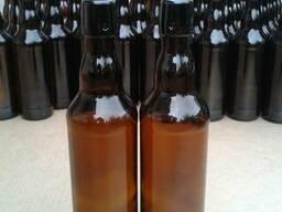 Стеклянная бутылка под пробку 05 Крым