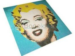 Стеклянная мозаика Marylin Monroe 120x120см
