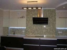 Стеклянная панель для кухни на рабочую стенку в Киеве