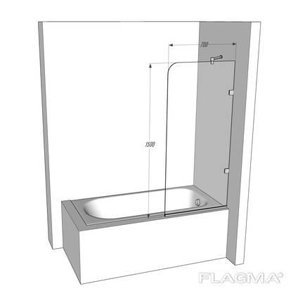 Стеклянная шторка для ванной TINO