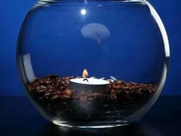 Стеклянная ваза-бокал -аквариум