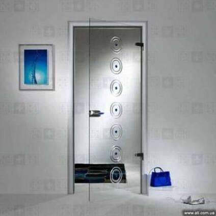 Стеклянные двери из с телескопической коробкой StoneGlass