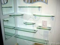Стеклянные полки столешницы дверцы из стекла на заказ Днепр