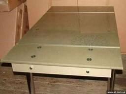 Стеклянные столы для кухни TB008-2, стеклянный кухонный стол