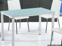 Стеклянные столы TB076-3 на кухню, стеклянные кухонные столы