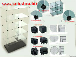 Стеклянные витрины кубик горка для стекла 4\5\6 мм