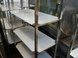 Стелаж для посуду і інвентаря для кухні з нержавіючої сталі