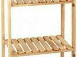 Стеллаж деревянный PROзапас 1500x600x300 мм сосна Темно-Серый