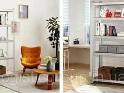 Стеллаж полочный 1800х1000х500мм, 200кг, 5 полок с ДСП оцинкованный для офиса, дома. ..